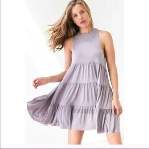 UO Silence and Noise Linda Tiered Mini Dress